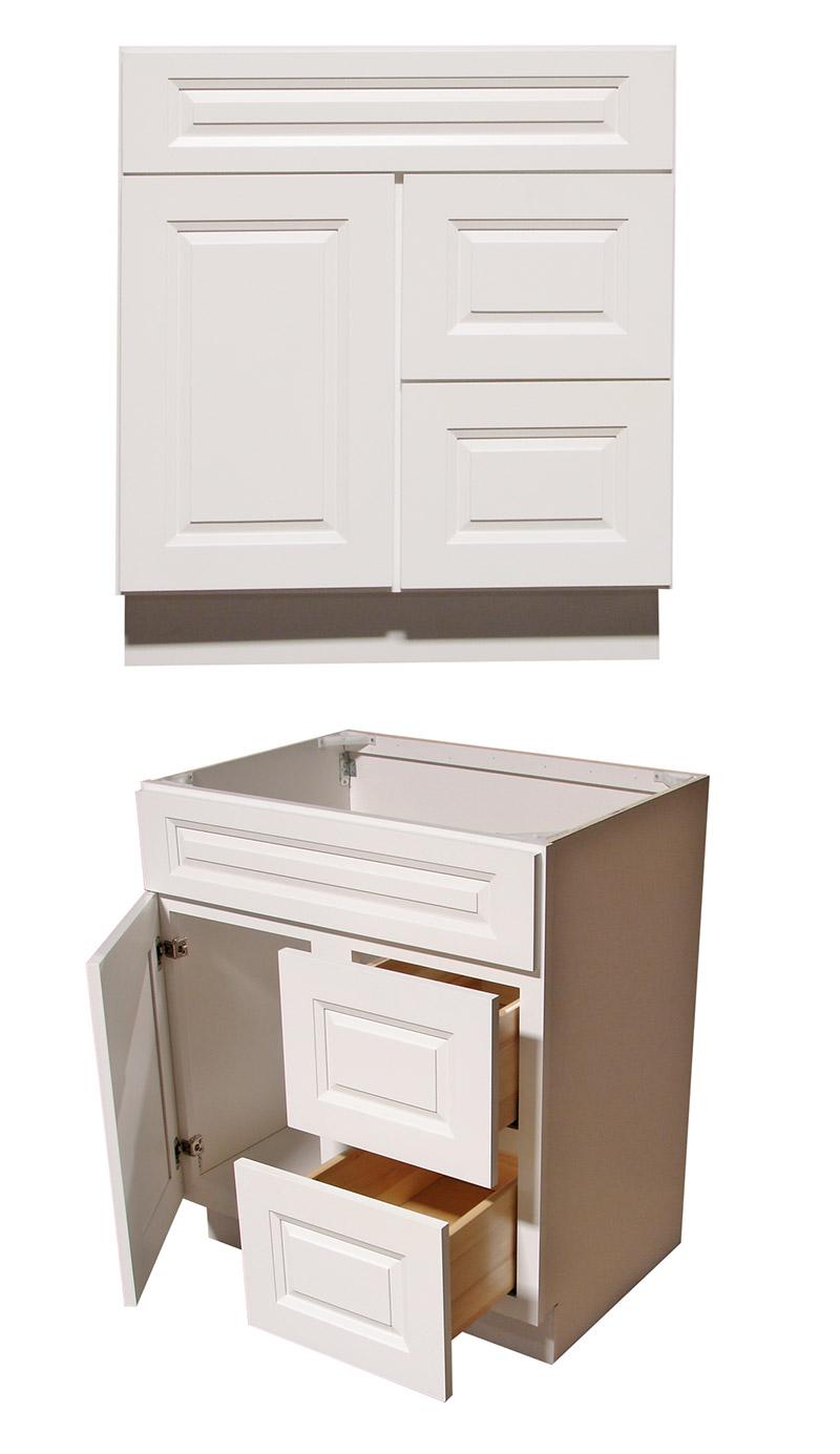 Alpine Raised Panel Bathroom Vanities - RTA Cabinet Store