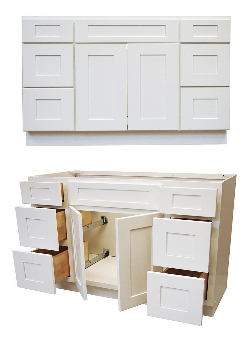Elegant White Shaker Bathroom Vanities - RTA Cabinet Store