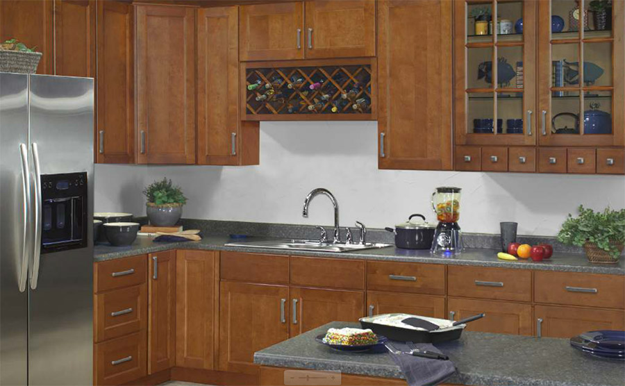 Amber Spice Kitchen Cabinets
