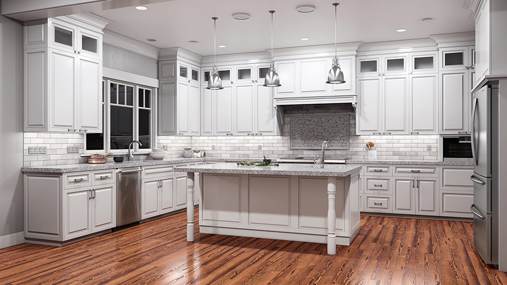 Brazos White Kitchen Cabinets