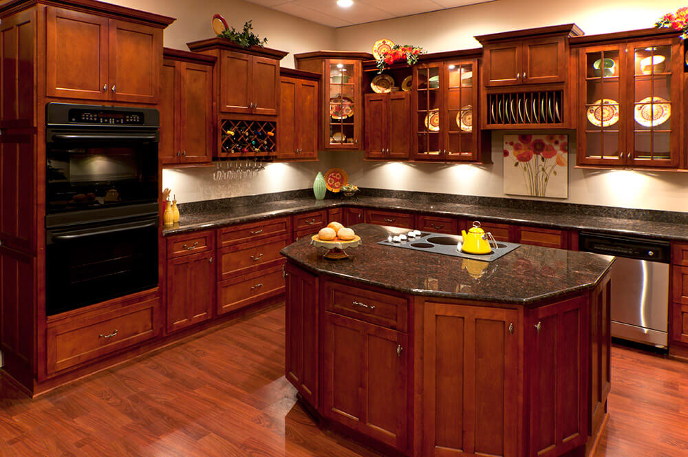 Kitchen Cabinets Cherry Wood cherry shaker kitchen cabinets - rta cabinet store