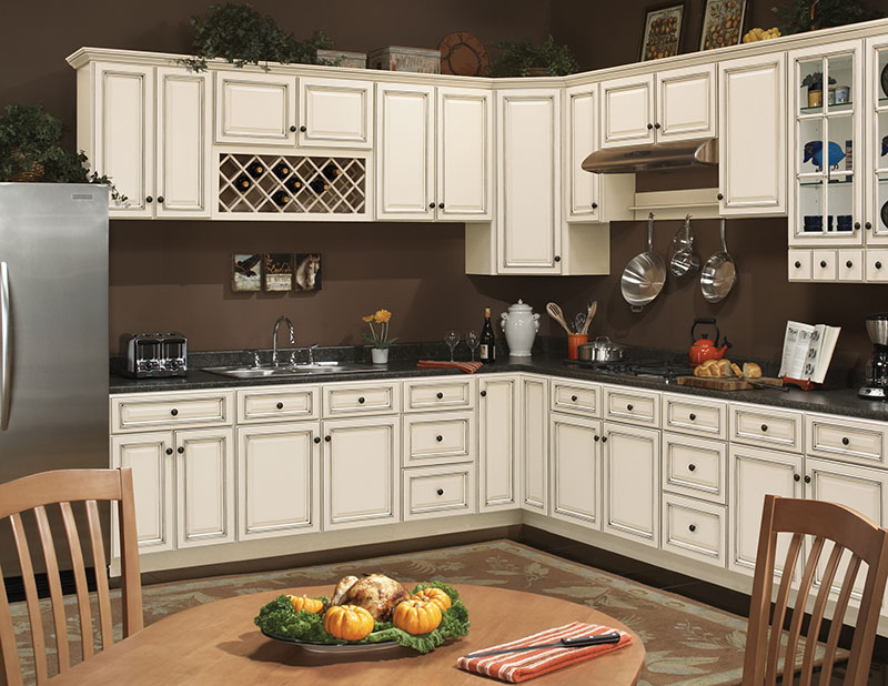 Coastal Ivory Kitchen Cabinets