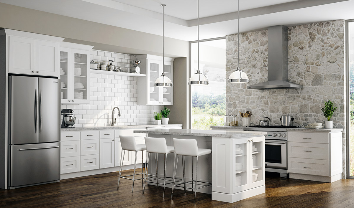 Dover White Kitchen Cabinets