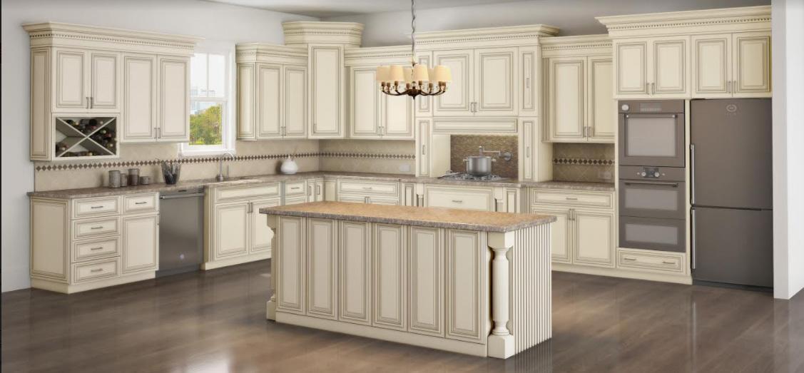 Attrayant Estate White Kitchen Cabinets