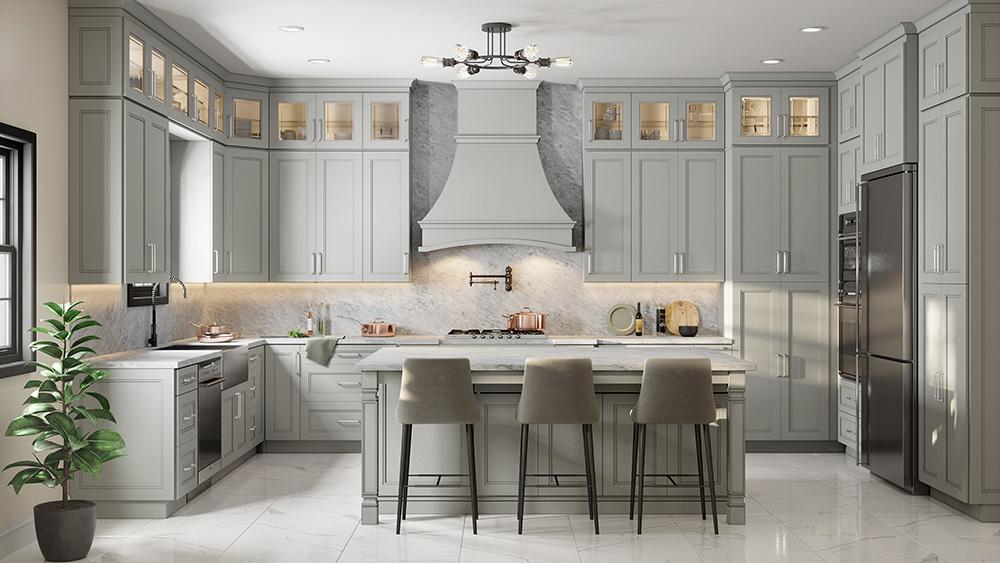 Gainsboro Gray Kitchen Cabinets