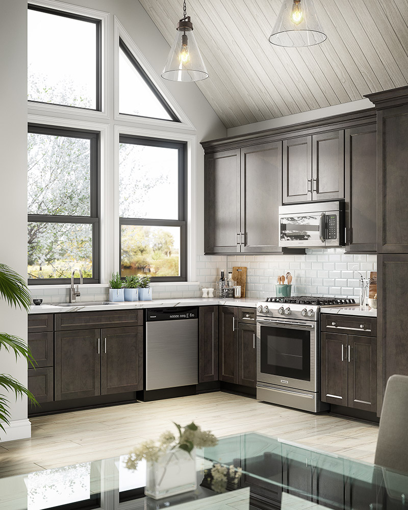 Grey Kitchen Cabinets: Merion Grey Kitchen Cabinets