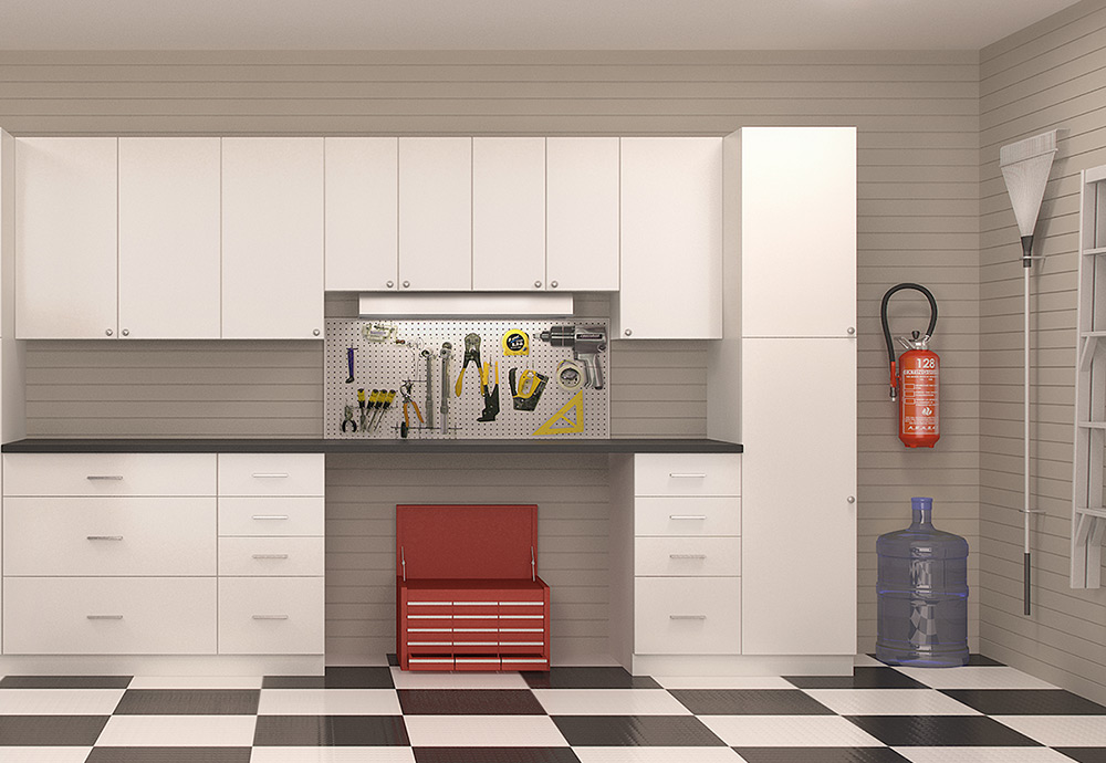 Pacific White Kitchen Cabinets