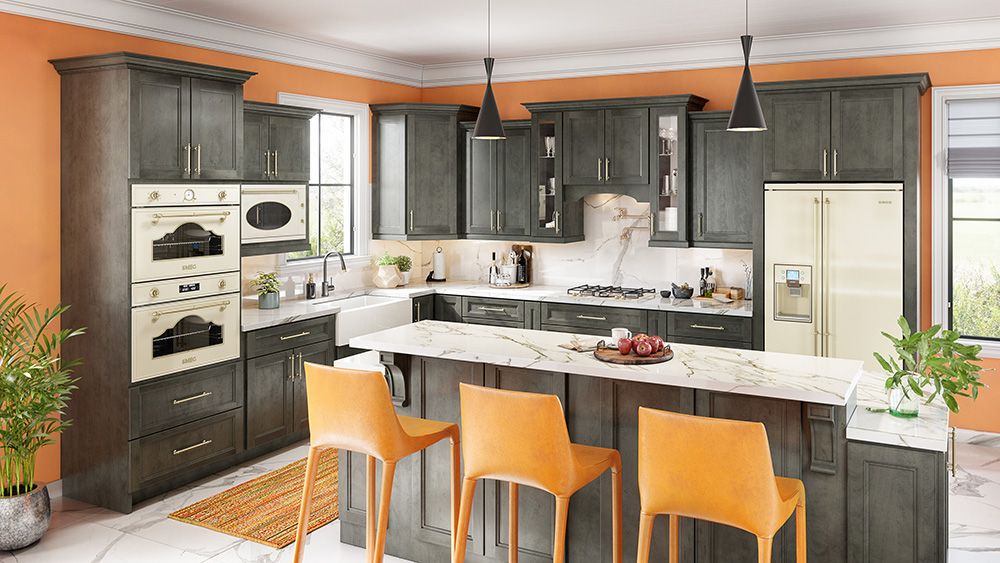 50 Smokey Grey Grey Distressed Kitchen Cabinets Pictures Woodsinfo