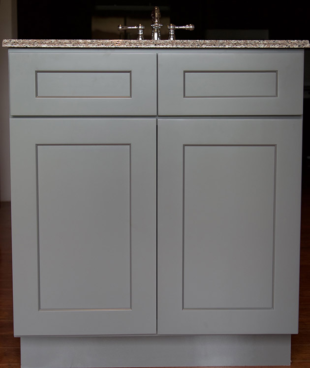 Stone Bathroom Vanity : Stone Grey Shaker Bathroom Vanities - RTA Cabinet Store