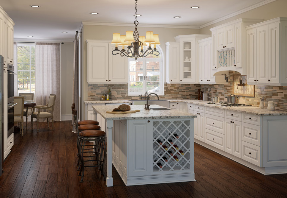 Cabana white kitchen cabinets rta cabinet store - Kitchen images with white cabinets ...