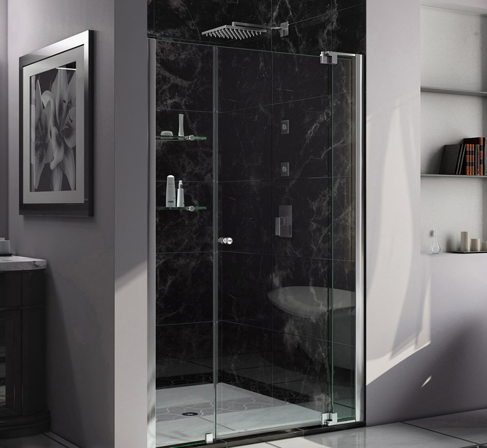 Dreamline Allure 44 To 45 In Frameless Pivot Shower Door