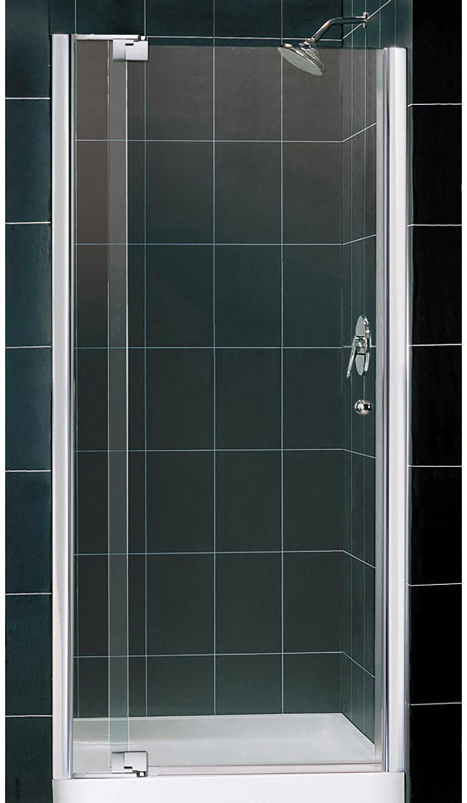 DreamLine Allure Frameless Pivot Shower Door and SlimLine 36 in. by ...