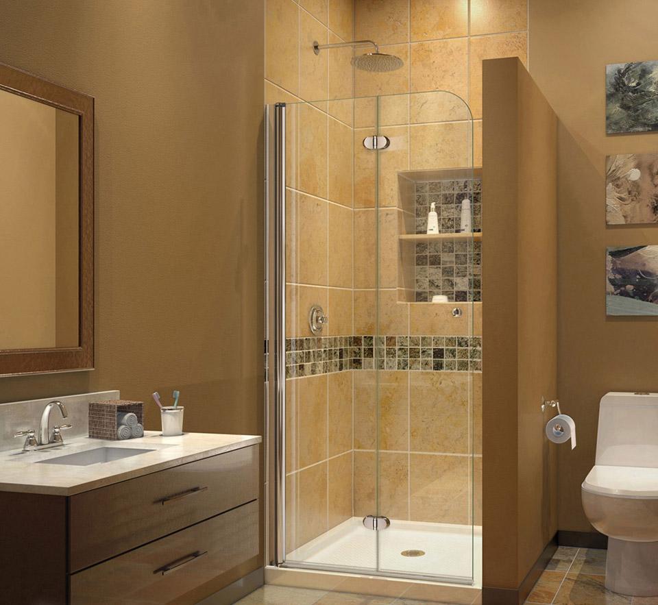 Merveilleux DreamLine SHDR 3634720 Aqua Fold 33.5 In. W X 72 In. H Clear Glass Shower  Door