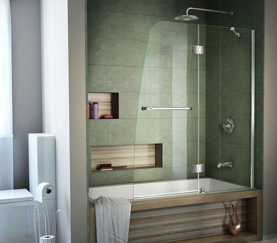 Dreamline Aqua 48 In Frameless Hinged Tub Door Shdr 3148586 01