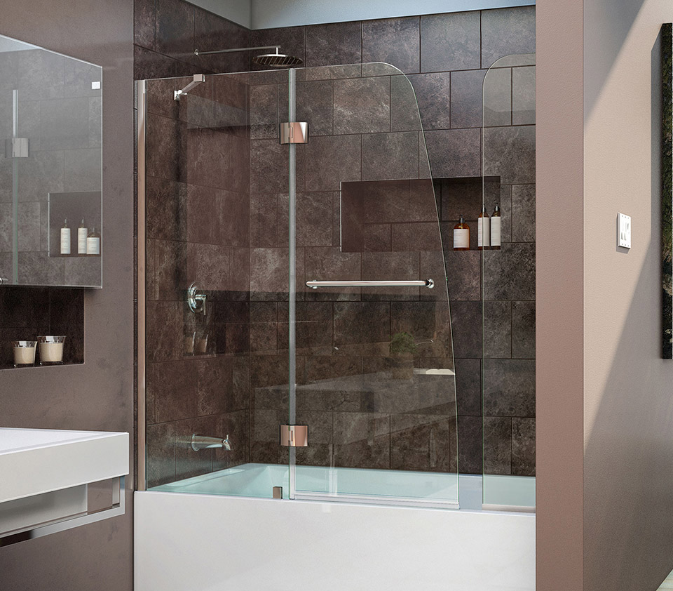 Dreamline Aqua 56 To 60 In W X 58 In H Hinged Tub Door
