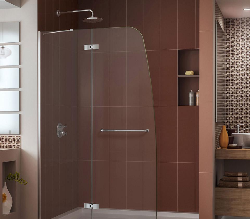 DreamLine Aqua Ultra 45 in. Frameless Hinged Shower Door SHDR-3445720-01