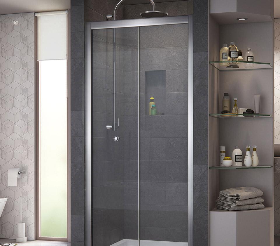 DreamLine Butterfly 30 to 31 1/2 in. Frameless Bi-Fold Shower Door ...