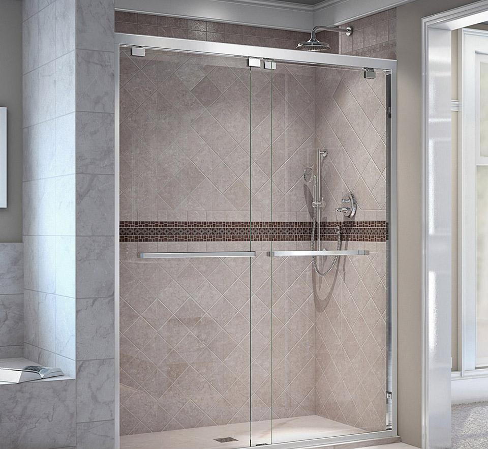 DreamLine Encore 44 - 48 in. W x 76 in. H Bypass Sliding Shower Door ...