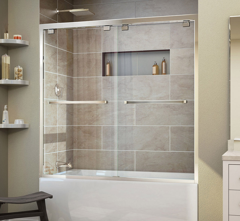 DreamLine Encore 56 - 60 in. W x 58 in. H Bypass Sliding Tub Door ...