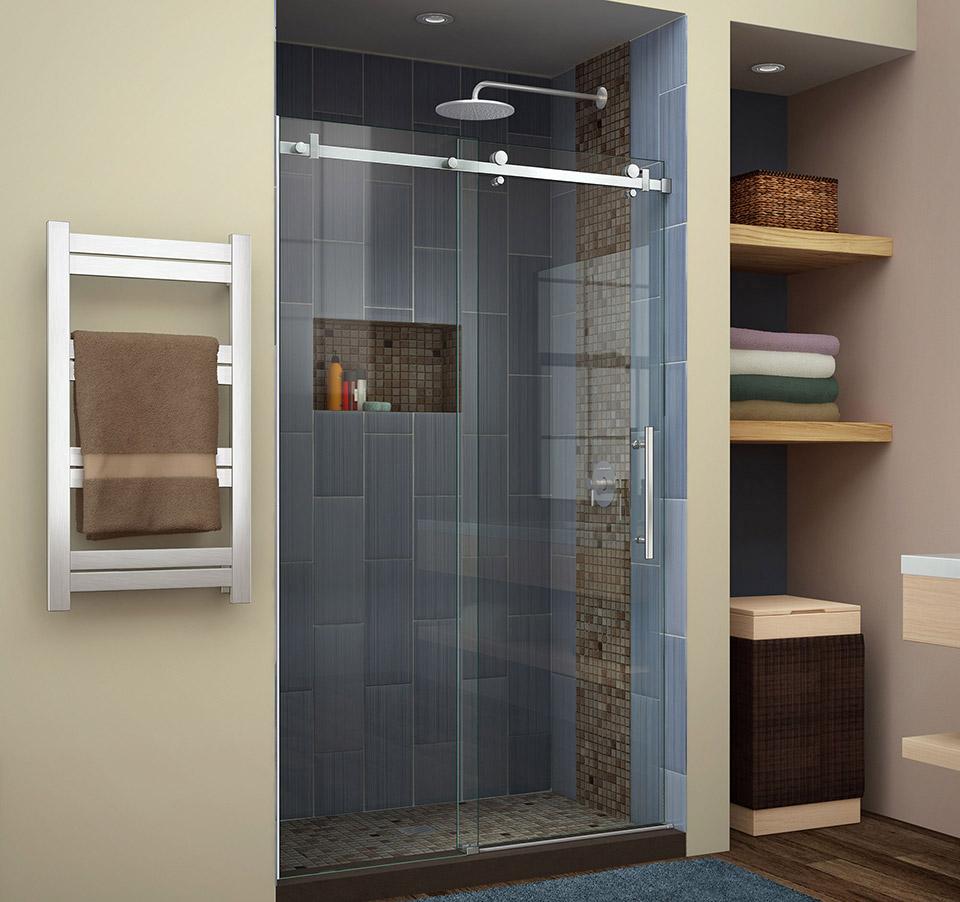 DreamLine Enigma Air 44 to 48 in. Frameless Sliding Shower Door SHDR ...