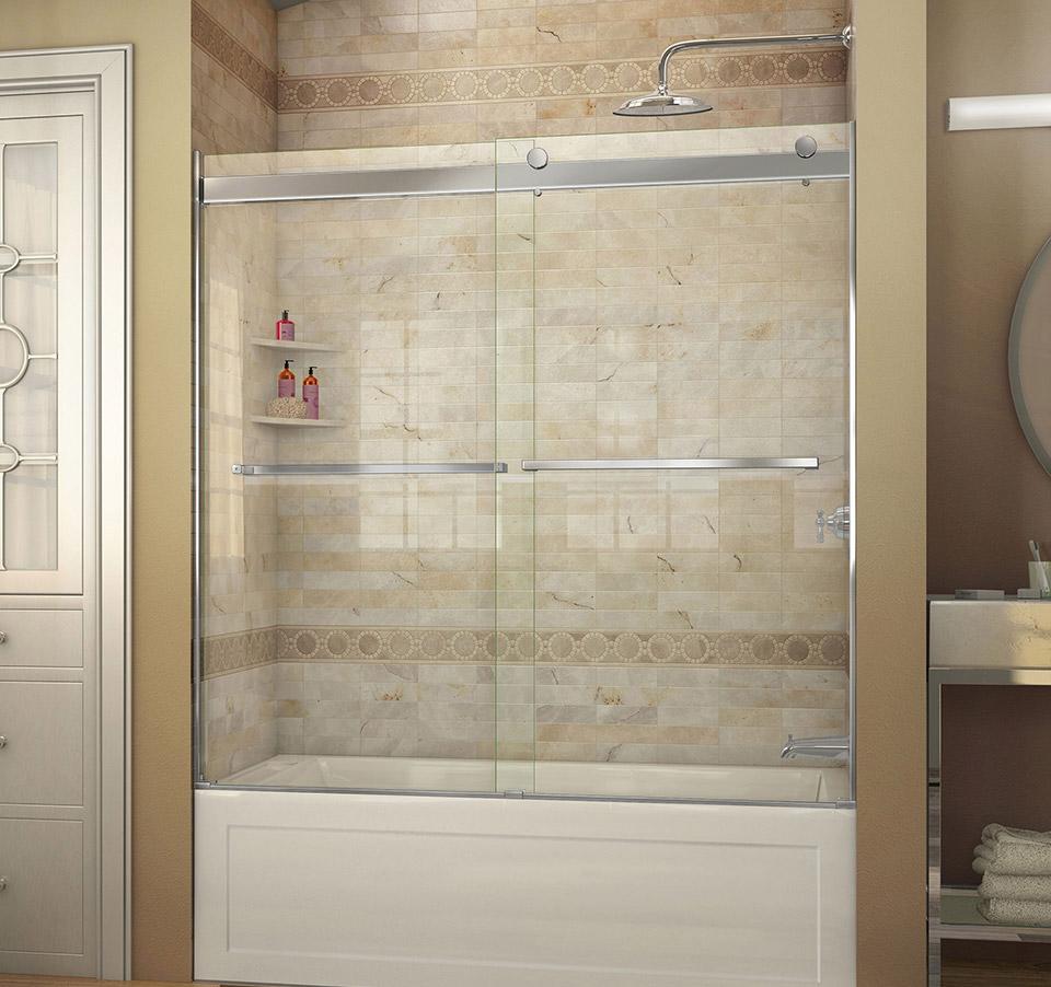 Dreamline Essence 56 To 60 In Frameless Bypass Tub Door Shdr 6360600 01