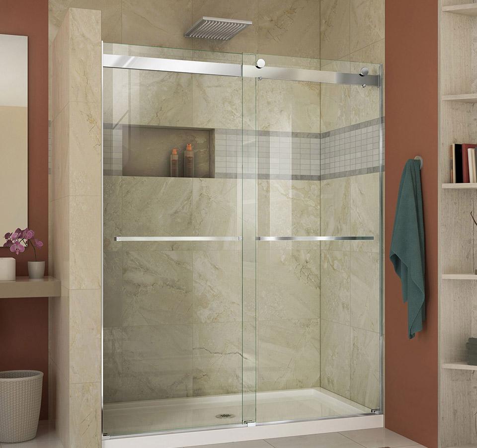 DreamLine Essence 56 to 60 in. Frameless Bypass Shower Door SHDR ...
