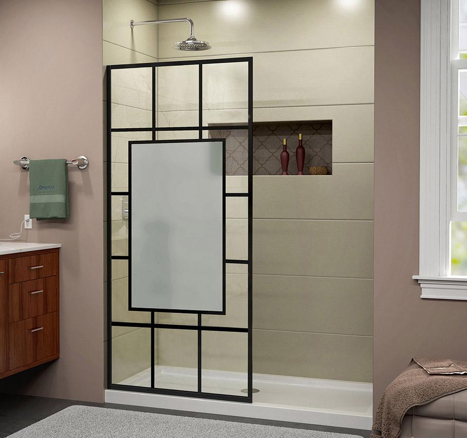 Dreamline French Linea Avignon Frameless Shower Door 34 In