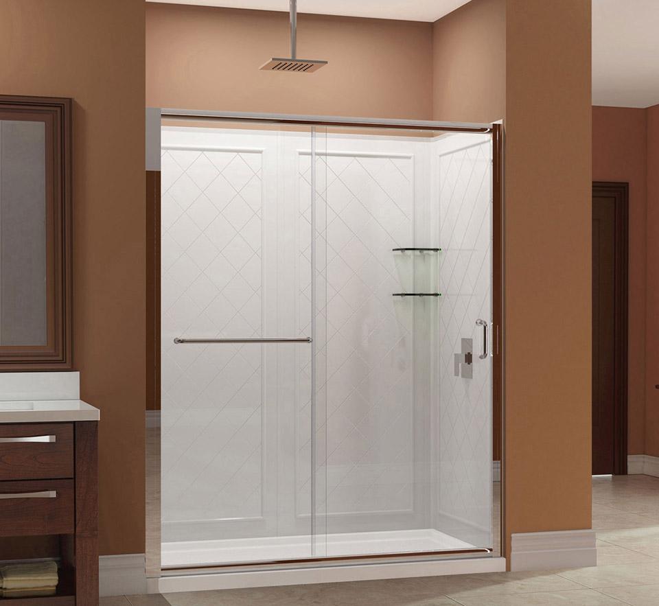 Dreamline Infinity Z Frameless Sliding Shower Door 30 In