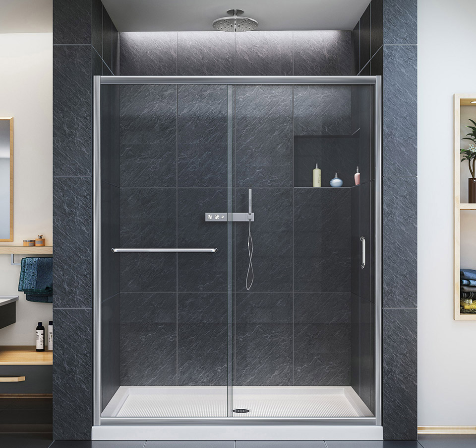 60 shower door womenofpowerfo dreamline infinity z 56 to 60 in frameless sliding shower door planetlyrics Image collections