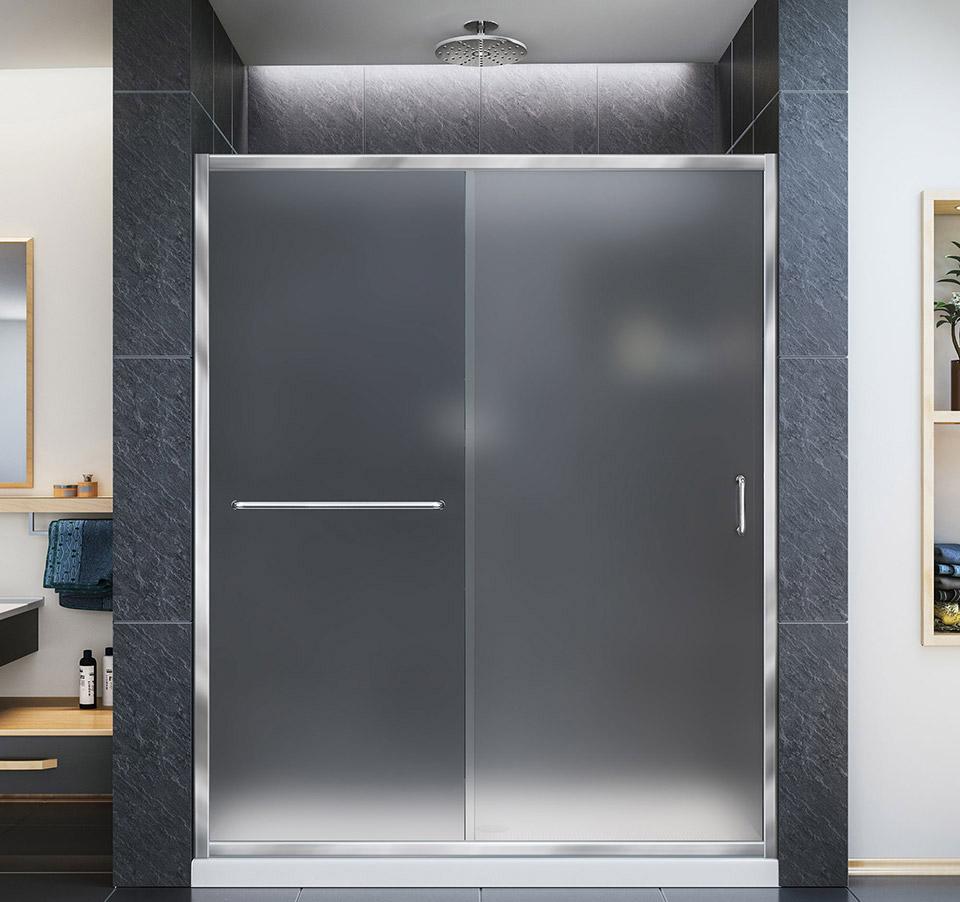 DreamLine Infinity-Z 56 to 60 in. Frameless Sliding Shower Door SHDR ...