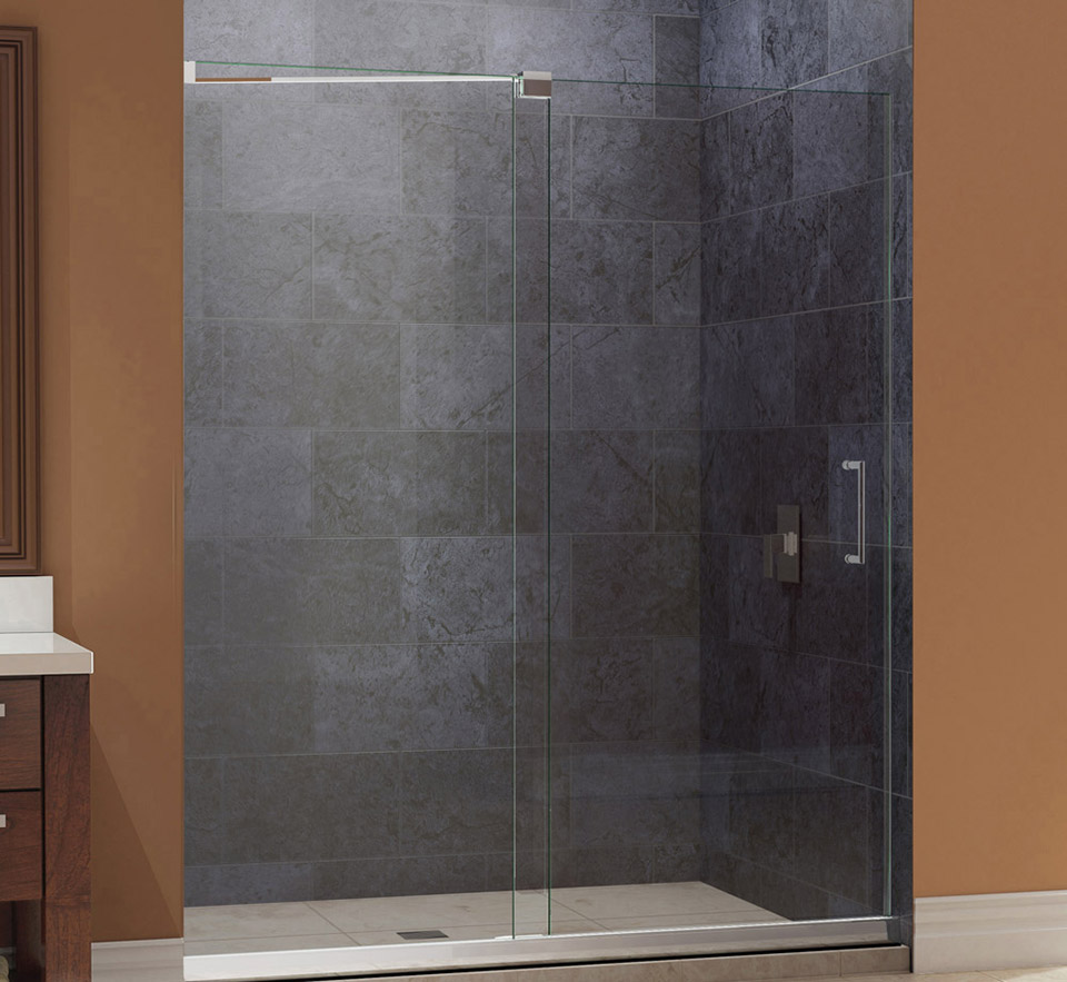 Dreamline Mirage Frameless Sliding Shower Door And Slimline 32 In