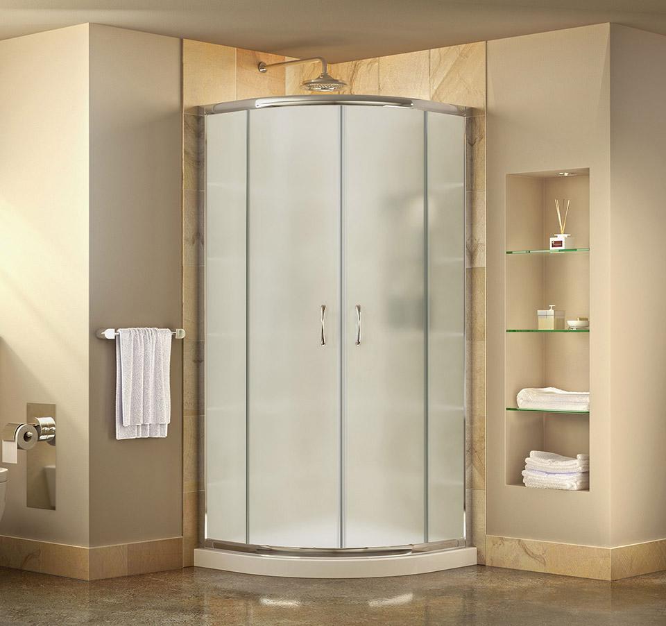 DreamLine Prime 31 3/8 in. by 31 3/8 in. Frameless Sliding Shower ...