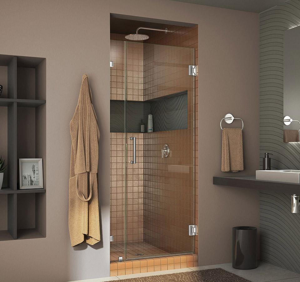 Dreamline Unidoor Lux 35 In Frameless Hinged Shower Door Shdr