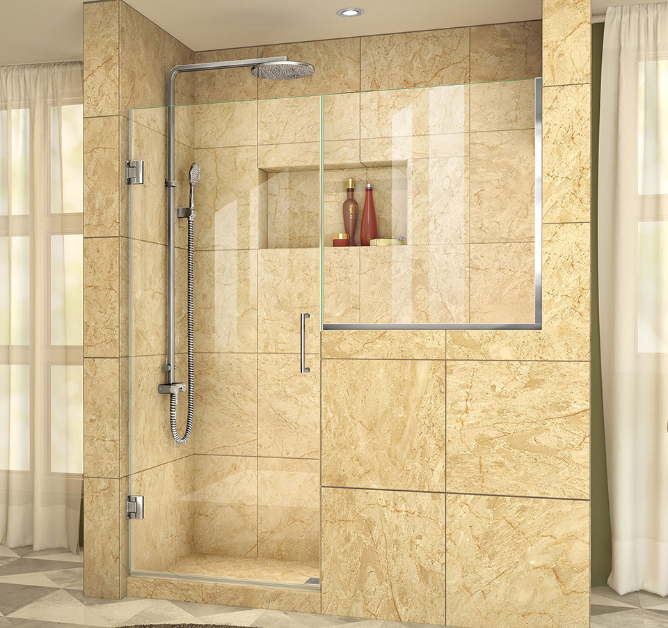 Dreamline Unidoor Plus 59 59 1 2 In W X 72 In H Hinged