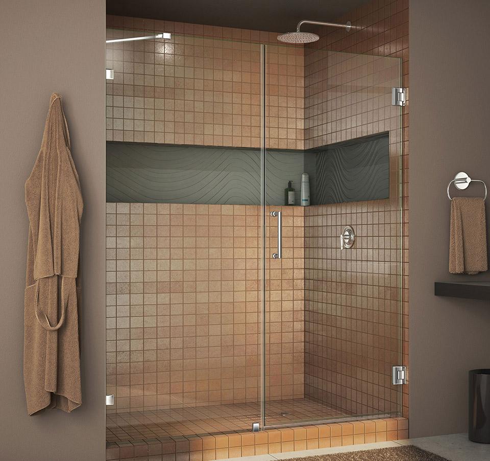 DreamLine Unidoor Lux 58 in. Frameless Hinged Shower Door SHDR ...