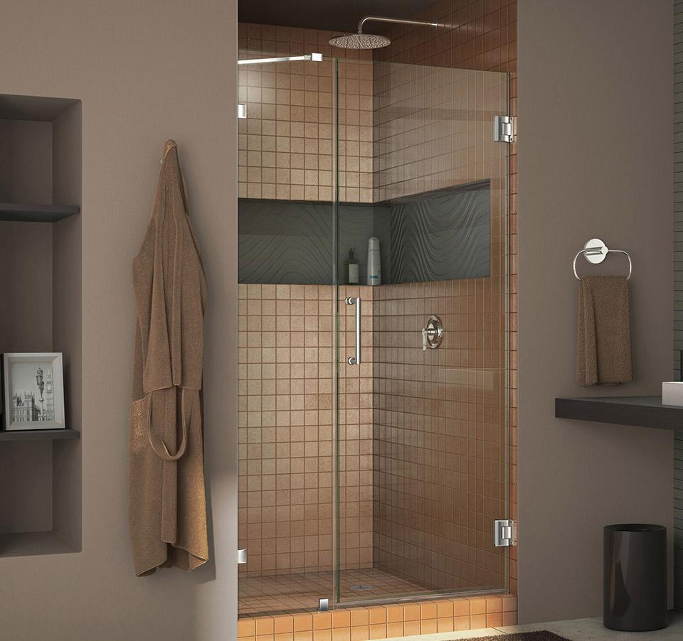 DreamLine Unidoor Lux 46 in. Frameless Hinged Shower Door SHDR ...