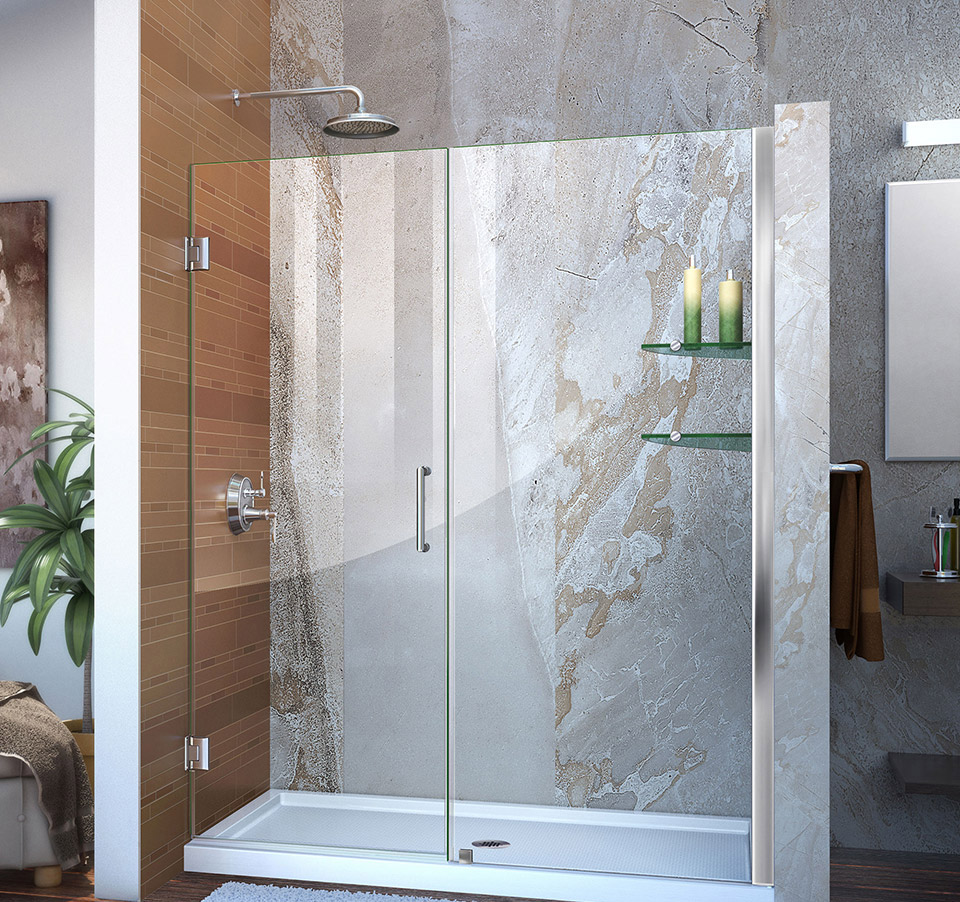 Dreamline Unidoor Min 60 In To Max 61 In Frameless Hinged Shower