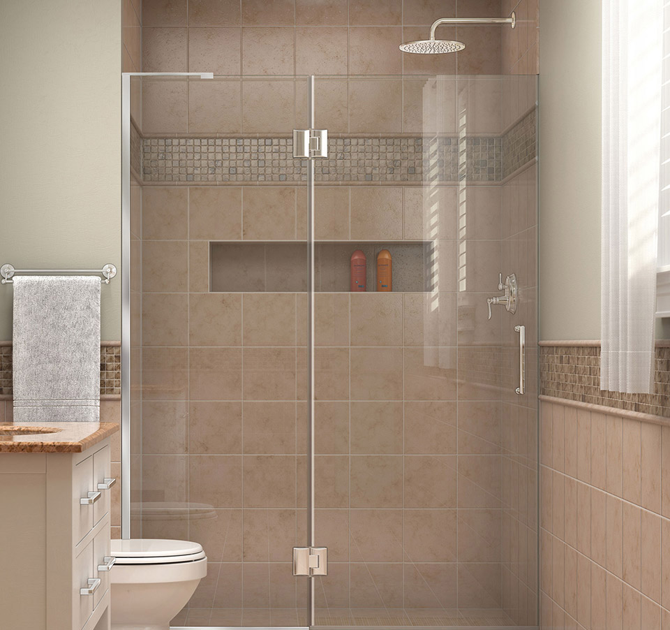 Dreamline Unidoor X 50 In W X 72 In H Hinged Shower Door