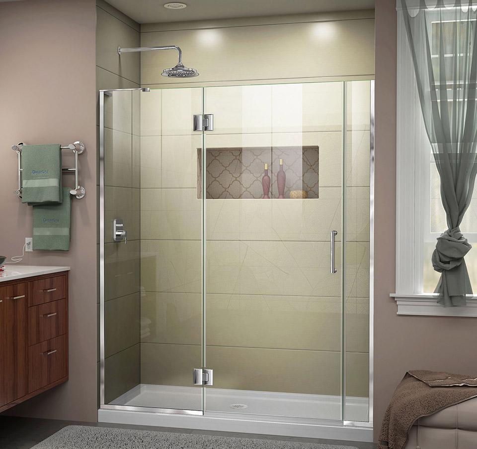 DreamLine Unidoor-X 68 - 68 1/2 in. W x 72 in. H Hinged Shower Door ...