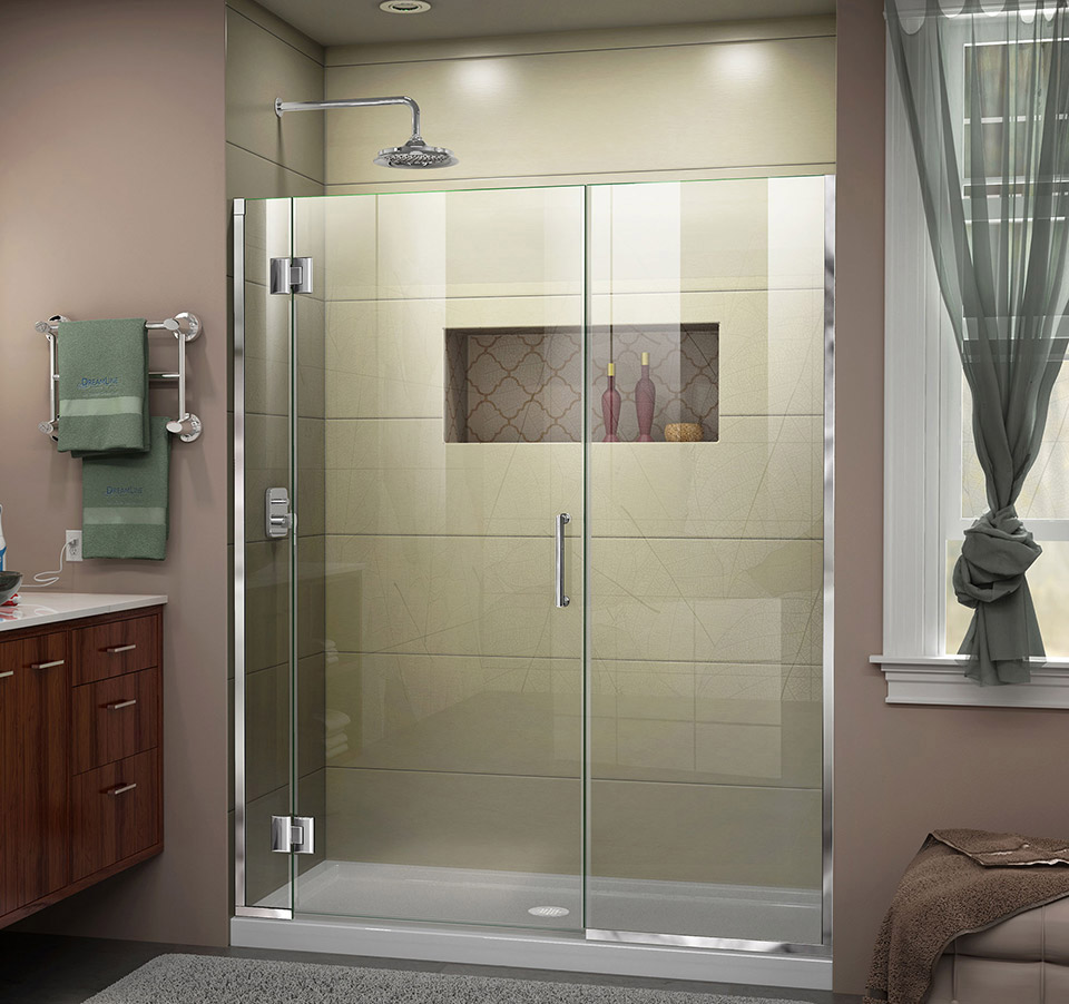 DreamLine Unidoor-X 65 - 65 1/2 in. W x 72 in. H Hinged Shower Door ...