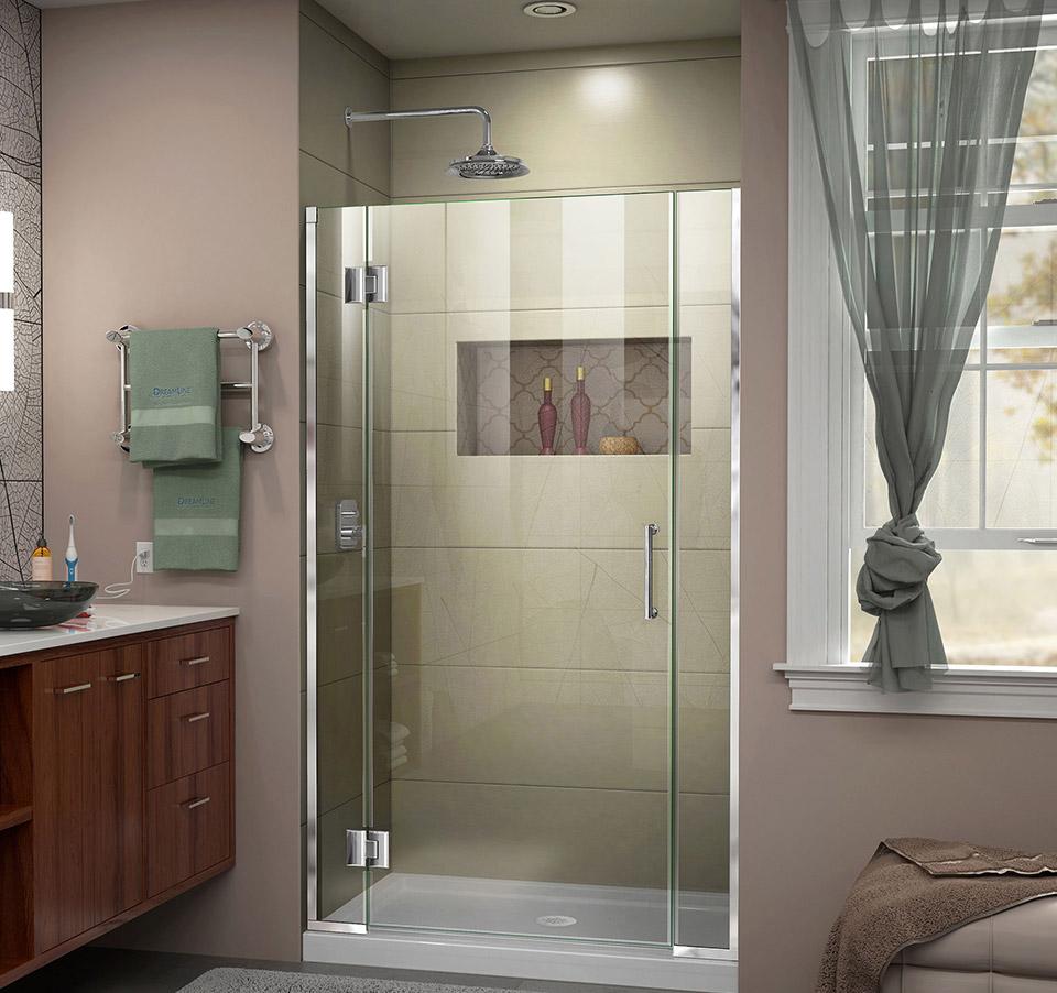 DreamLine Unidoor-X 35 - 35 1/2 in. W x 72 in. H Hinged Shower Door ...