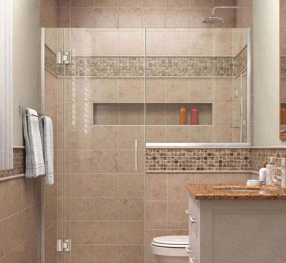DreamLine Unidoor-X 54 - 54 1/2 in. W x 72 in. H Hinged Shower Door ...