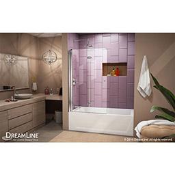 Dreamline Aqua Fold 36 In Frameless Hinged Tub Door Shdr