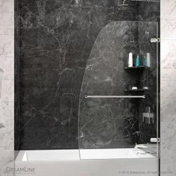 Dreamline Aqua Uno 34 In Frameless Hinged Tub Door Shdr