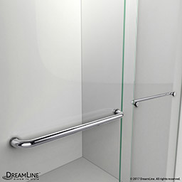 Dreamline charisma sliding shower door 56 60 in w x 76 in h the dreamline charisma shower or tub door has a contemporary bold frameless design bringing the functionality and convenience of a double sliding bypass planetlyrics Images