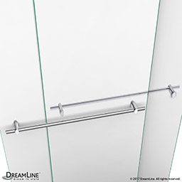 the dreamline duet sliding bypass shower or tub door has a sleek elegant design that will complement both classic and modern bathroom decors