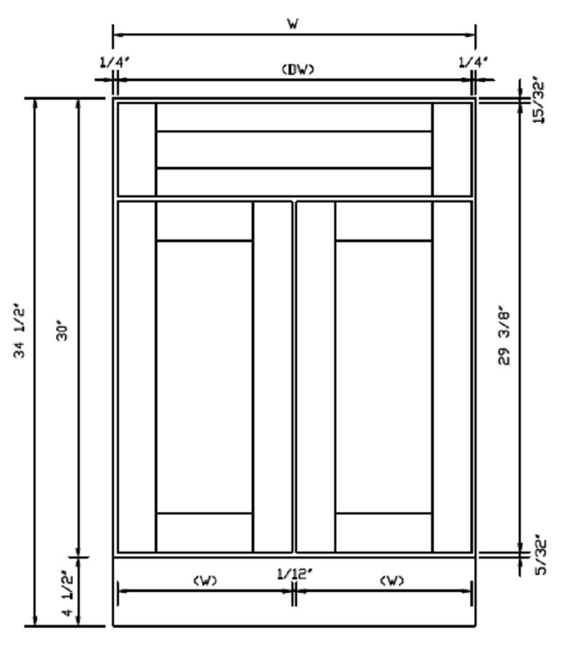 Lancaster Linen Double Door Base Cabinets