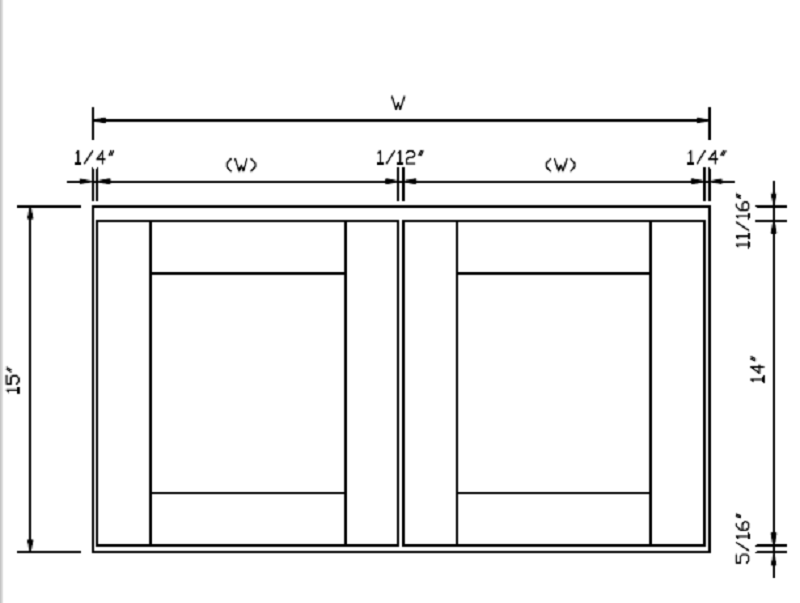 Arlington White Double Door Wall Cabinets - RTA Cabinet Store
