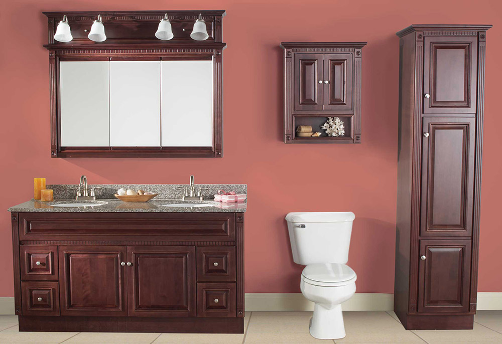 cherry bathroom storage cabinet heritage cherry vanities rta cabinet 13485