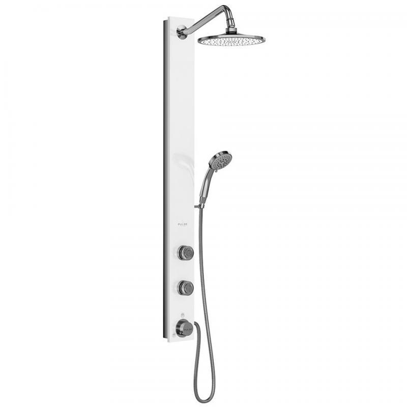 PULSE ShowerSpas Aloha ShowerSpa White Glass Shower System